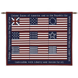 Pledge of Allegiance Art Tapestry Wall Hanging