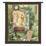 Time For Golf Art Tapestry Wall Hanging