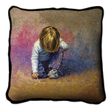 Budding Artist by Lucelle Raad Art Tapestry Pillow