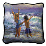 Surf Dancers by Lucelle Raad Art Tapestry Pillow