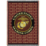 Marine Corps Semper Fidels Art Tapestry Throw