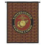 Marine Corps Semper Fidels Art Tapestry Wall Hanging