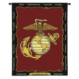 Marine Corps Art Tapestry Wall Hanging