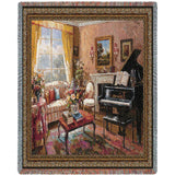 Music Room Art Tapestry Throw