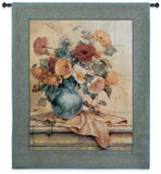 Flower Vase on Mantle Art Tapestry Wall Hanging
