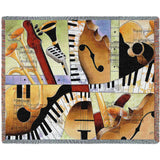 Jazz Medley I Art Tapestry Throw