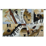 Jazz Medley I Art Tapestry Wall Hanging