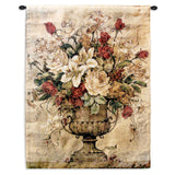 Elegant Floral Arrangement in Urn Art Tapestry Wall Hanging