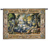 15th Century Landscape Art Tapestry Wall Hanging