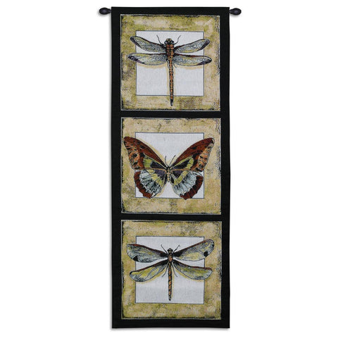 Butterfly and Dragonflies Art Tapestry Wall Hanging