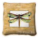 Dragonfly Art Tapestry Pillow