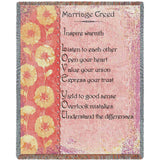 Marriage Creed Art Tapestry Throw