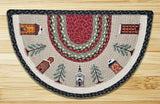 Winter Village Half Circle Braided Jute Rug 32-338WV
