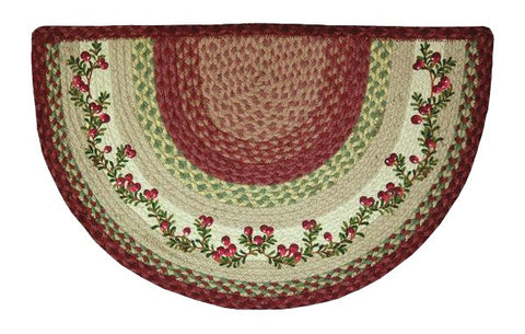 Cranberries Half Circle Braided Jute Rug 32-390CB