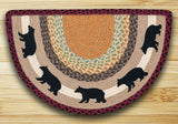 Cabin Bear Half Circle Braided Jute Rug 32-395CB