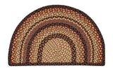 "Black Cherry/Chocolate/Cream 24""x39"" Half Circle Slice Braided Jute Rug 32-LG371"