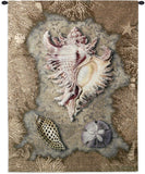 Sea Shells and Coral Art Tapestry Wall Hanging