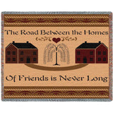 Road Between Friends Art Tapestry Throw