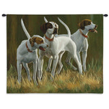 Hound Dogs at First Light Art Tapestry Wall Hanging