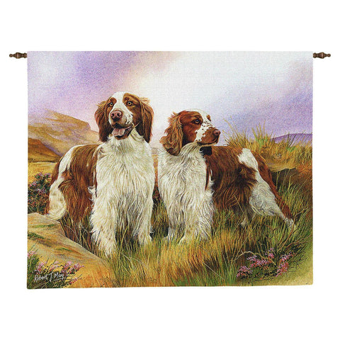 Welsh Springer Spaniel Dogs Art Tapestry Wall Hanging