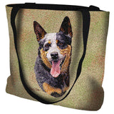 Australian Cattle Dog Portrait Art Tapestry Tote Bag