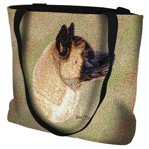 Akita Dog Portrait Art Tapestry Tote Bag