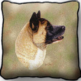 Akita Dog Portrait Art Tapestry Pillow