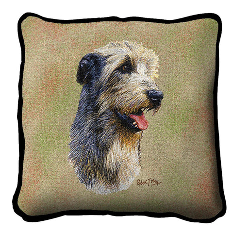 Irish Wolfhound Dog Portrait Art Tapestry Pillow