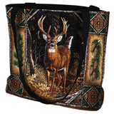 Deer Lodge Art Tapestry Tote Bag