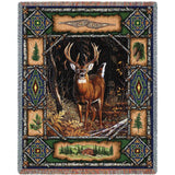 Deer Lodge Art Tapestry Throw