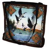Geese Lodge Art Tapestry Tote Bag