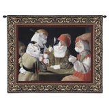 The Cheating Cat Art Tapestry Wall Hanging