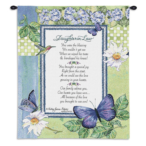Daughter-In-Law Art Tapestry Wall Hanging