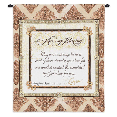 Marriage Blessing Art Tapestry Wall Hanging