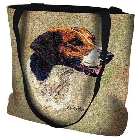 English Foxhound Dog Portrait Art Tapestry Tote Bag