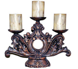 Ornate Acanthus Leaves 3-Tier Candle Holder in 60 Colors