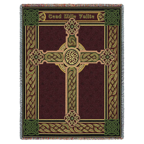 Celtic One Hundred Thousand Welcomes Art Tapestry Throw