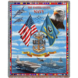 The United States Navy Collage Tribute To Chiefs Art Tapestry Throw