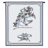 Matrimony Art Tapestry Wall Hanging, Blue