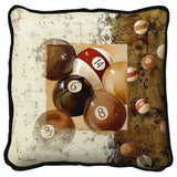 Billiard Balls Art Tapestry Pillow