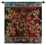 Asian Inspired Love Birds Art Tapestry Wall Hanging in 2 Sizes