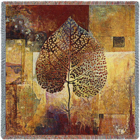 Autumn Abstract Art Tapestry Lap Throw