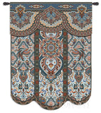 Paradise Oriental Blue Art Tapestry Wall Hanging