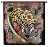 African Collage Art Tapestry Wall Hanging
