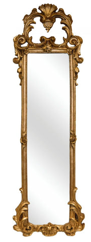 "38"" French Ornate Strip Wall Mirror Antique Reproduction in 60 Colors"