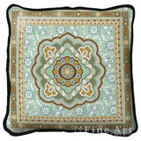 Masala Mint Art Tapestry Pillow