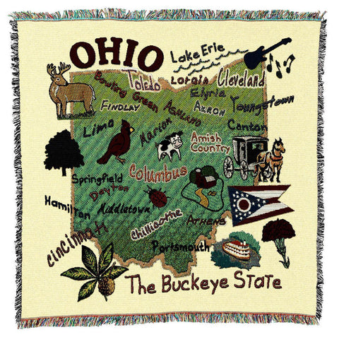 Ohio State Art Tapestry Lap Throw