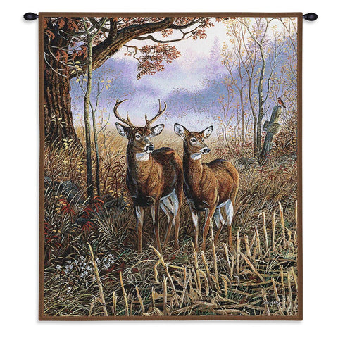 Country Treasures White Tail Deer Art Tapestry Wall Hanging