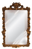 Shell Top and Elaborate Acanthus Leaf Wall Mirror Antique Reproduction in 60 Colors