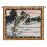 Large Mouth Bass Fish Art Tapestry Wall Hanging